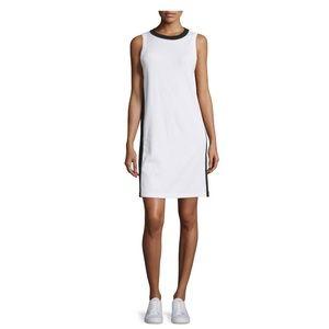 Rag and Bone Sam Stripe-Trim Jersey Shift Dress